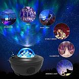 Цветной светодиодный проектор звездного неба музыкальный ночник, фото 8