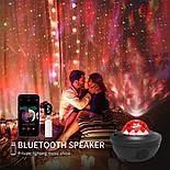 Цветной светодиодный проектор звездного неба музыкальный ночник, фото 9