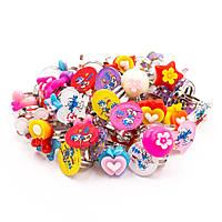 Набор ярких детских колечек 50 штук
