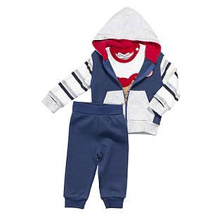 Спортивный костюм из трех единиц для мальчика, размеры 6 мес