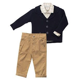 Костюм для мальчика из трех предметов, размер 2 года