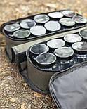 Сумка для хранения и транспортировки бойлов, с 20-ма банками в комплекте, 2 отделения, водонепроницаемая, фото 5