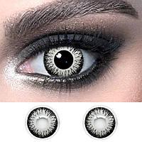 """Сірі лінзи кольорові косметичні ELITE Lens """"Metallic"""" 14.5 мм. (N0144)"""