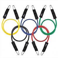 Набор эспандеров резинок для фитнеса Resistance Bands JT-003 5шт. + чехол