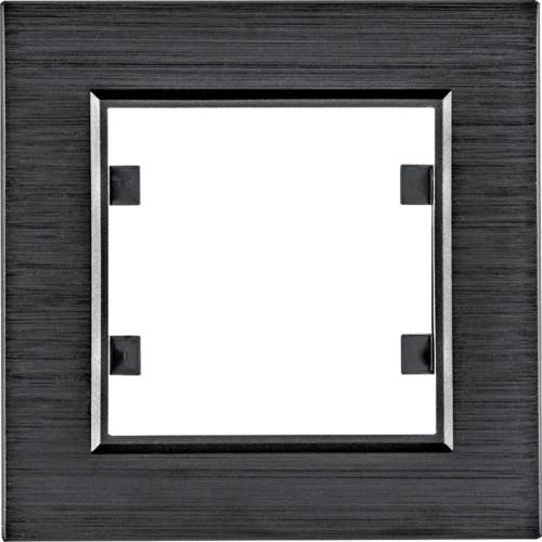 Рамка 1Х Lumina-Passion черный алюминий