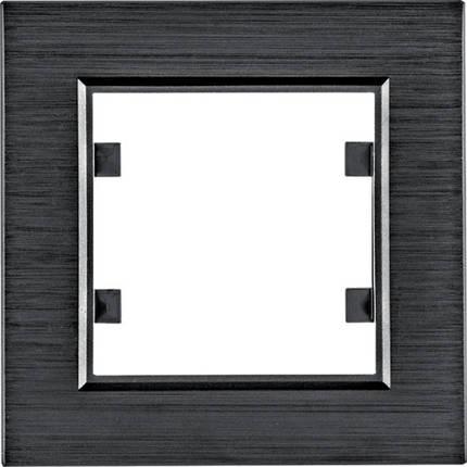 Рамка 1Х Lumina-Passion черный алюминий, фото 2