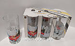 Набор новогодних стеклянных стаканов 6 шт 270 мл для сока, воды, молока Christmas To the North Pole UniGlass, фото 2