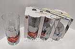 Набор новогодних стеклянных стаканов 6 шт 270 мл для сока, воды, молока Christmas To the North Pole UniGlass, фото 3