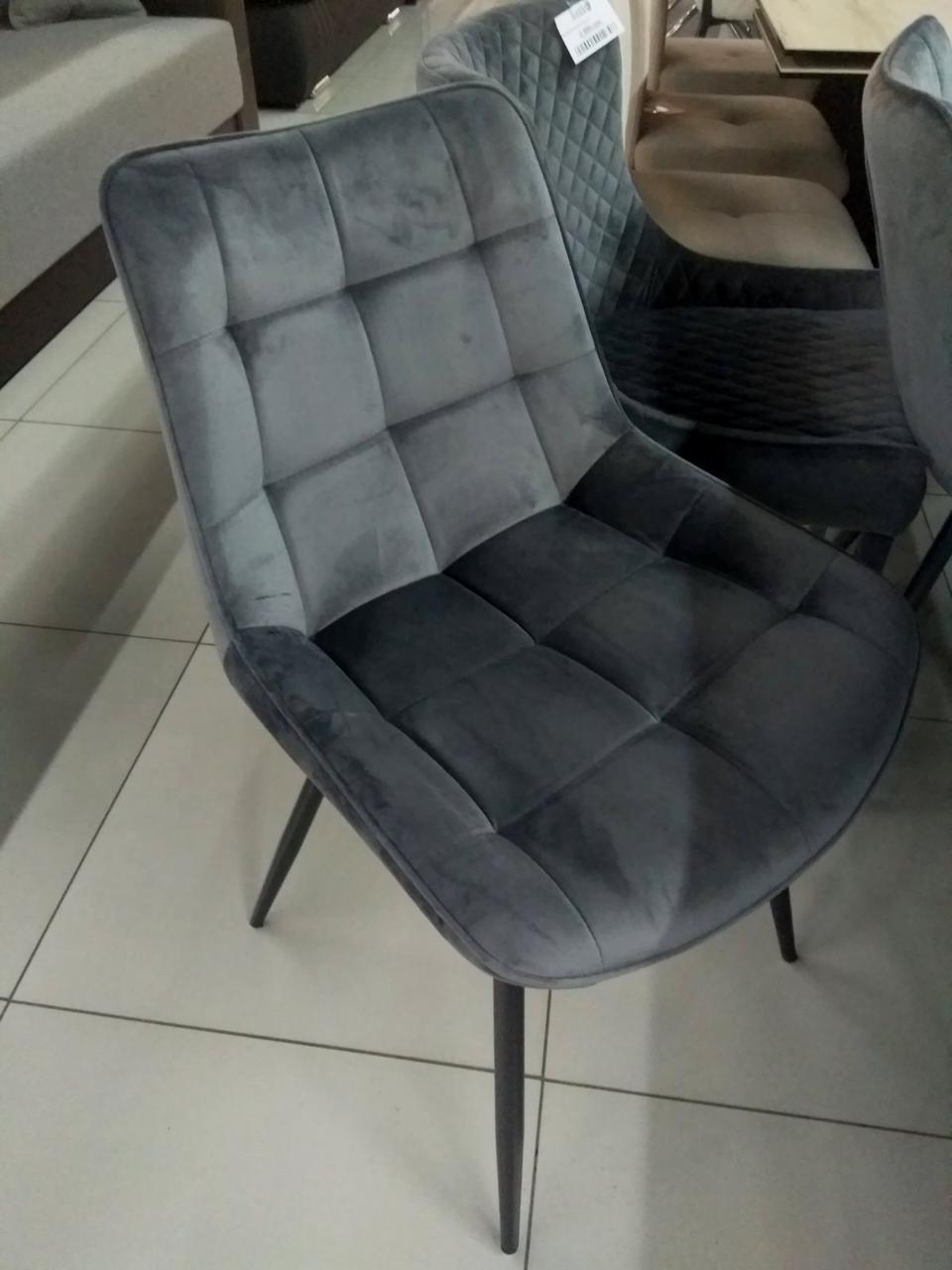 Стул N-45 серый вельвет + крашенный металл от Vetro Mebel