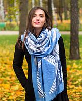Кашемировый палантин Патрисия 180*70 см голубой