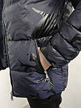 Куртка мужская зимняя синяя  с капюшоном 4 цвета, фото 4