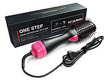 Фен, электрическая расческа, плойка-стайлер 3 в 1 One Step, фото 2