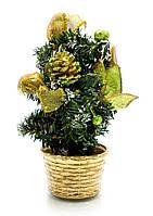 Новогодняя елка Желто-золотистые украшения 20 см.