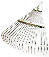 Грабли веерные раздвижные металлические, грабли проволочные, универсальные,золотистые,без ручки, фото 1