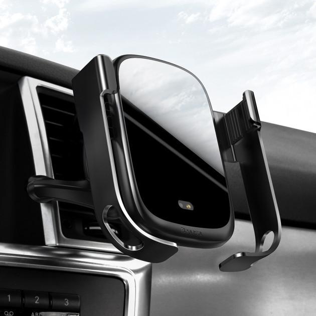 Уценка Держатель для Телефона в Машину с Беспроводной Зарядкой в Воздуховод Baseus (WXHW01-01)