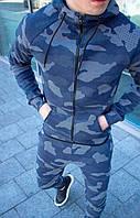 Мужской Костюм спортивный Милитари синий Л