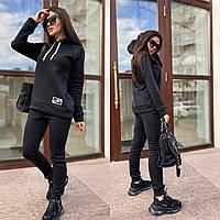Теплый женский костюм, черный / черного цвета N197