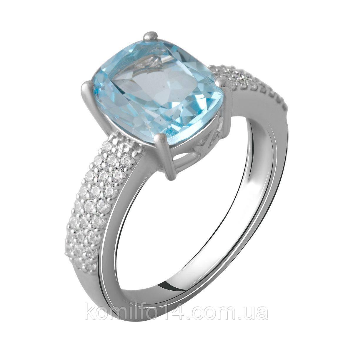 Серебряное кольцо с натуральным топазом