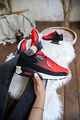 Женские кроссовки Ривал 90 Pobedov (черно-красные)