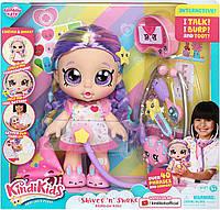 Интерактивная кукла Кинди Кидс Радуга Рейнбоу Кейт с набором доктора Kindi Kids Rainbow Kate 50041