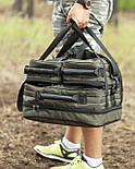 Универсальная рыбацкая сумка для поводочницы, 4 катушек, 8 банок бойлов, и др. рыболовных аксессуаров, фото 6