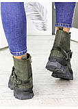Женские зимние ботинки изумрудного цвета Forever 7235-28з, фото 3