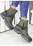 Женские зимние ботинки изумрудного цвета Forever 7235-28з, фото 2