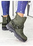 Женские зимние ботинки изумрудного цвета Forever 7235-28з, фото 4