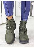 Женские зимние ботинки изумрудного цвета Forever 7235-28з, фото 5