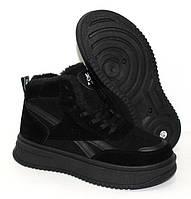 Замшевые женские ботинки зима, утепленные женские кроссовки