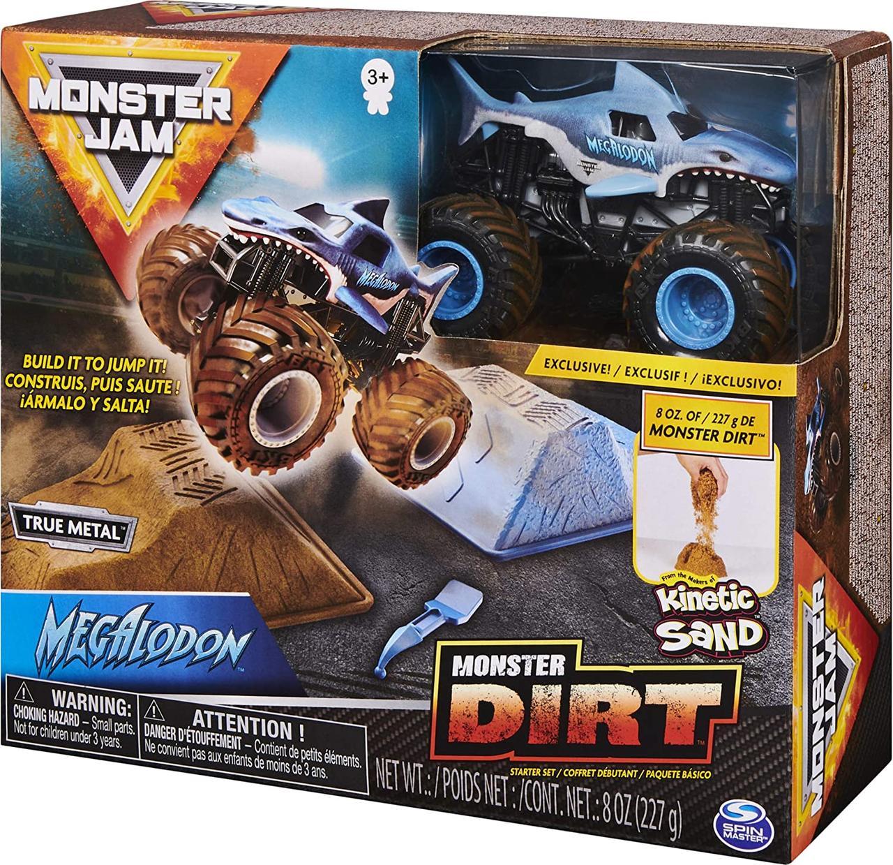 Monster Jam Мегалодон и набор для дрифта с кинетическим песком Megalodon Monster Dirt