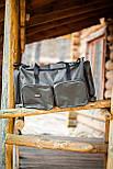 Многофункциональная транспортировочная сумка для рыболовных снастей, 5 отделений, с наплечным ремнем, фото 3