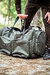 Многофункциональная транспортировочная сумка для рыболовных снастей, 5 отделений, с наплечным ремнем, фото 6
