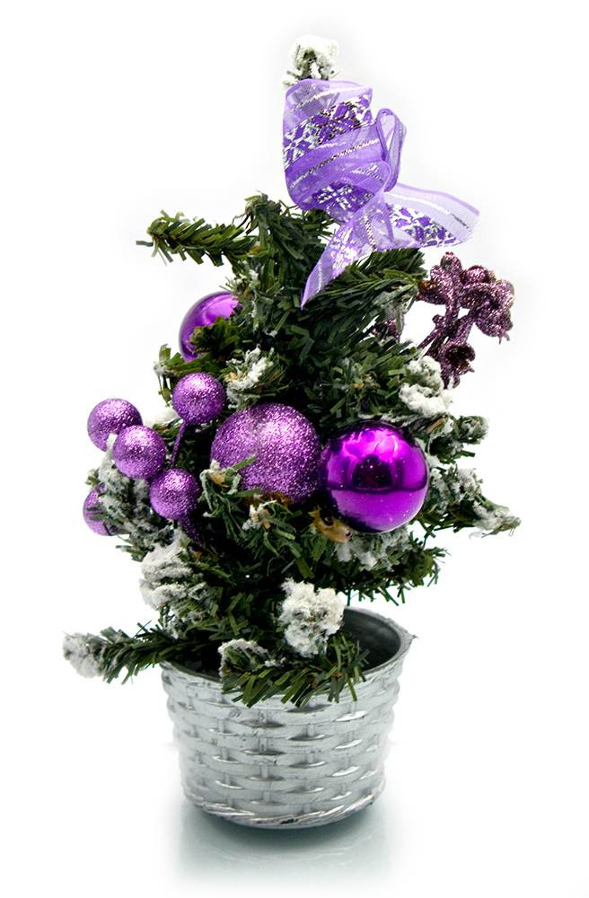 Елка искусственная для Нового года Фиолетовый декор 20 см.