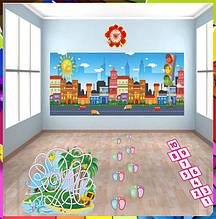 Наклейки на підлогу для школи та дитячого садка