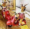 Новогоднее елочное украшение Олень на мопеде, 10см, 2 вида