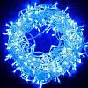 Новогодняя cветодиодная гирлянда нить LED 500 лампочек (30м): синий цвет