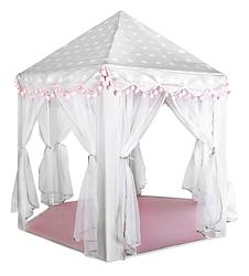 Палатка детская 70×140 см серо - розовая Kruzzel 8772