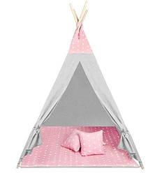 Детская игровая палатка WIGWAM 160 × 115 см розовые звезды 8705