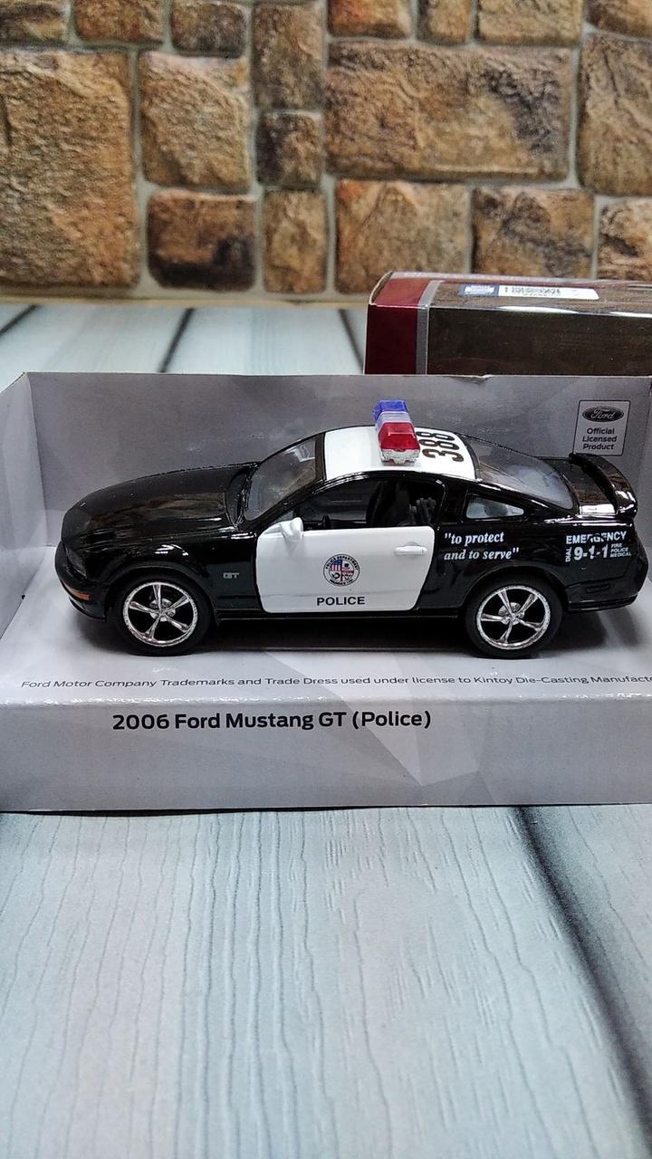 Машинка полицейская металлическая  Ford Mustang