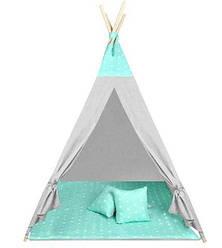 Детская игровая палатка WIGWAM 160 × 115 см мятные звезды 8704