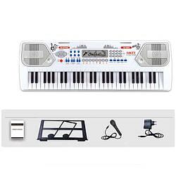 Синтезатор с микрофоном и держателем для нот детский Electronic Keyboard 8238