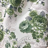 Плотная атласная шторная ткань в стиле прованс , высота 2.8 м на метраж (631), фото 5