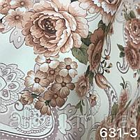 Плотная атласная шторная ткань в стиле прованс , высота 2.8 м на метраж (631), фото 3