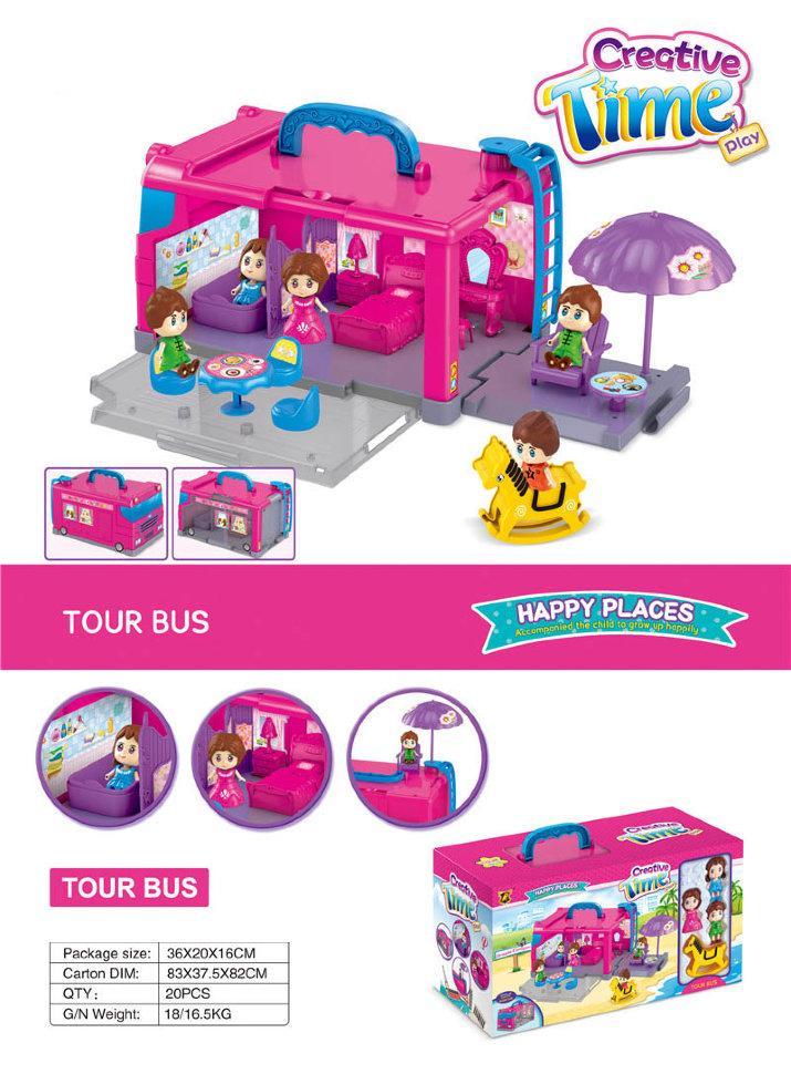 Golden Toys / Игровой набор Автобус GT293797