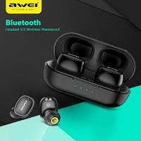 Беспроводные Bluetooth наушники Awei T13 с зарядным блоком! Топ Продаж