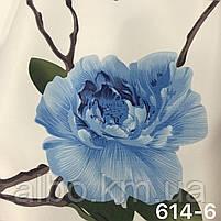 Шторная ткань с цветами, высота 2.8 м на метраж (614), фото 5