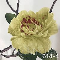 Шторная ткань с цветами, высота 2.8 м на метраж (614), фото 7