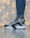 Кросівки чоловічі зимові N Air Huarache x Acronym Grey, фото 3