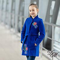 Элегантное кашемировое пальто для девочки « Вышивка - 7 », фото 1